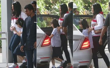 Aishwarya Rai Bachchan Who Hardly Gets Papped Was Spotted Picking Up Aaradhya Bachchan From School Today