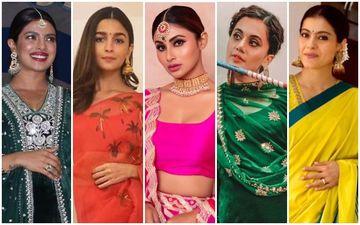 BEST DRESSED & WORST DRESSED Of Navratri 2019: Priyanka Chopra Jonas, Alia Bhatt, Mouni Roy, Taapsee Pannu Or Kajol?