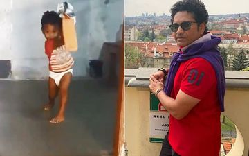 Is Sachin Tendulkar 2.0 In The Making? Nappy Baby Plays The Perfect Cover Drive, Just Like The Master Blaster