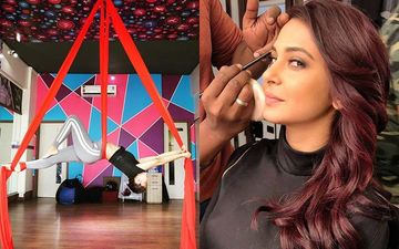 Beyhadh 2 BTS Video: Jennifer Winget Does The Strenuous Air Yoga To Shoot The Promo