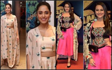 Nushrat Bharucha Or Sonakshi Sinha- Who Wore The Co-ords Set With Cape Better?