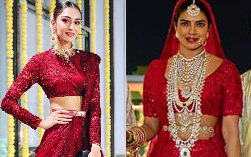 Priyanka Chopra S Red Wedding Lehenga Is In Vogue Erica Fernandes