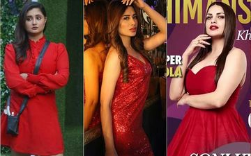 Christmas 2019: Bigg Boss 13's Rashami Desai, Mahira Sharma Or Himanshi Khurana - Who Rocked The Red?