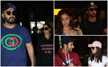 Arjun Kapoor-Malaika Arora, Ranbir Kapoor-Alia Bhatt, Tara Sutaria-Aadar Jain: Lovebirds Who Were 'CAP'tured At The Airport