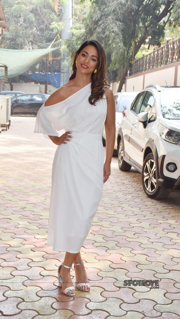 Hina Khan at Hacked Promotions