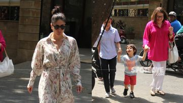 Kareena Kapoor Khan Leads As Mom Babita Walks Taimur Ali Khan; Munchkin's Bright Smile Is Unmissable