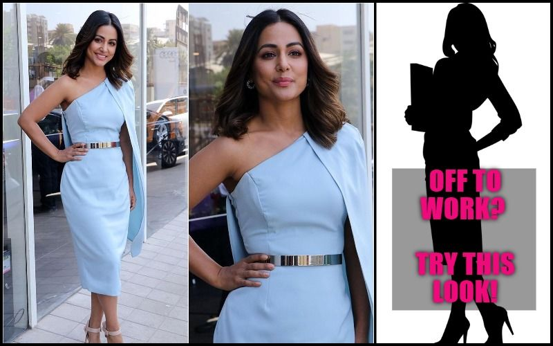 Corporate Look Of The Day: Hina Khan Shows You How To Keep It Stylish At Work- EXCLUSIVE