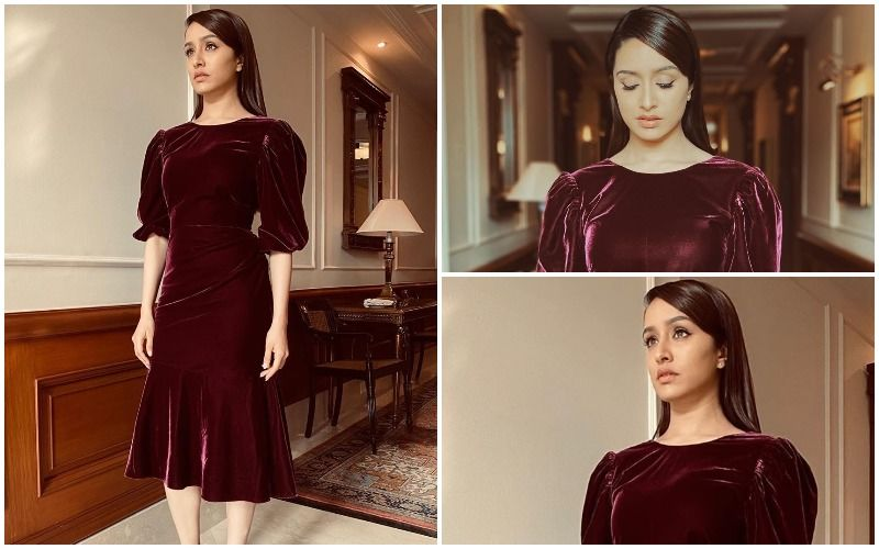 FASHION CULPRIT OF THE DAY: Shraddha Kapoor, Do DISCARD This Velvet Frock During Your Quarantine Wardrobe Clean-Up!
