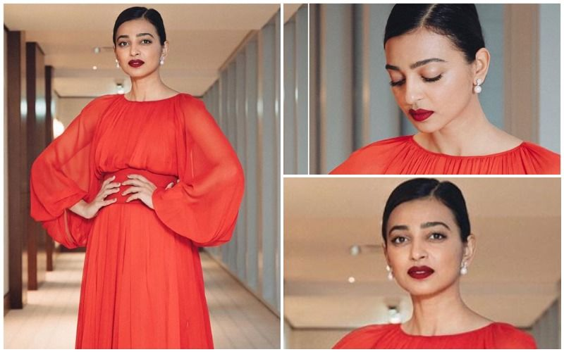 FASHION CULPRIT OF THE DAY: Radhika Apte, Your Bold Lips And The Tangerine Gown Are A Mismatch!