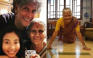 Milind Soman's Mother Celebrates 81st Birthday With 15 Push-Ups; Netizens Are Amazed: 'What An Inspiration'- VIDEO