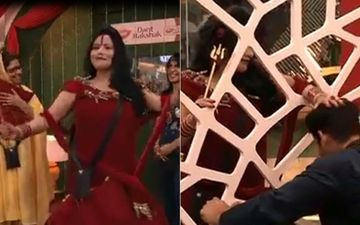 Bigg Boss 14: Radhe Maa Dances For Contestants; Sidharth Shukla Touches Her Feet In Respect And Seeks Her Blessings- VIDEO