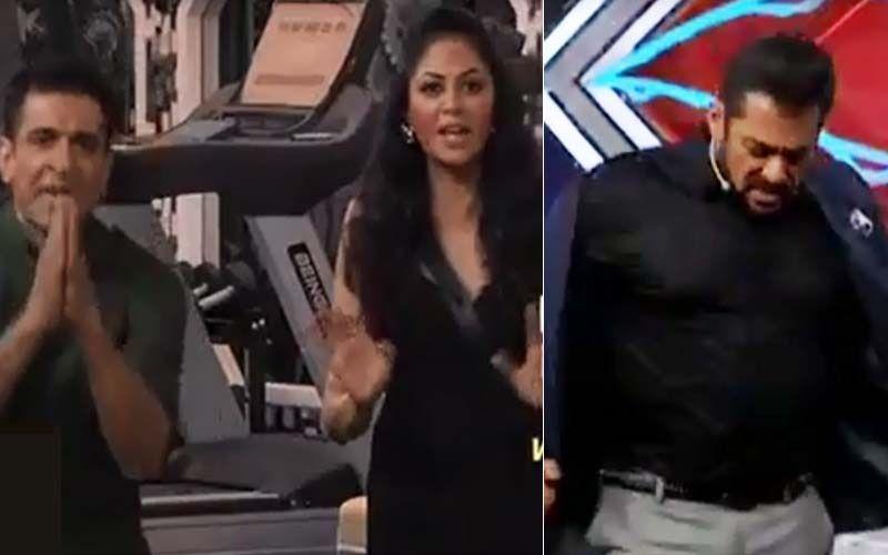 Bigg Boss 14 Weekend Ka Vaar: Kavita Kaushik- Eijaz Khan's Fight Irks Salman Khan; Host Walks Off Stage Angrily Saying 'Keep Fighting'- WATCH