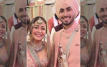 Neha Kakkar-Rohanpreet Singh Share A Kiss After Exchanging Rings; Lady Thanks Rohanpreet's Family For 'Best Reception Ever'-PICS