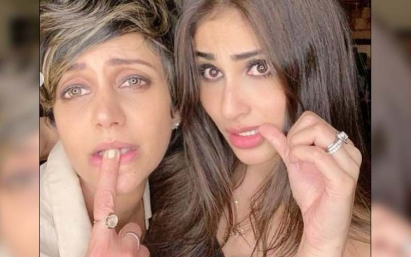 Mouni Roy Shares Happy Pics With Bestie Mandira Bedi Days After Her Husband Raj Kaushal's Demise; Naagin Actress Says 'My Baby Strongest'