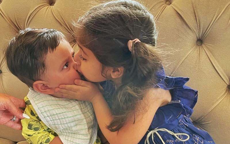 Kareena Kapoor Khan's Little Jeh's First Raksha Bandhan With Inaaya; Little Munchkins Share A Sweet Kiss