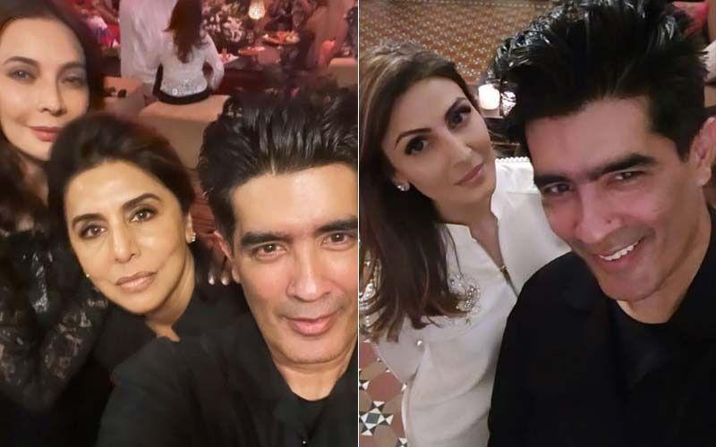 Neetu Kapoor, Riddhima Kapoor Sahni And Manish Malhotra Party Hard At Close Pal Rita Dhody's Birthday Bash-See PICS