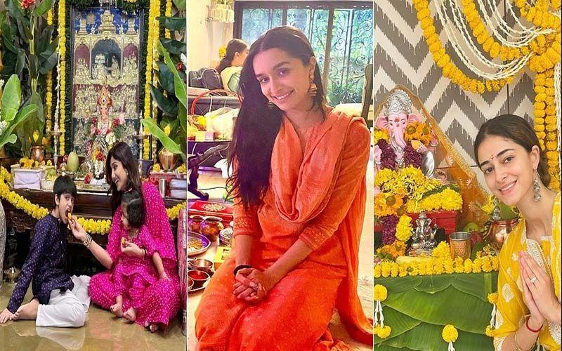 Ganesh Chaturthi 2021: Shraddha Kapoor, Kajol, Shilpa Shetty, Sara Ali Khan To Ananya Pandey, Here's How The B-town Beauties Dressed Up For Their Ganpati Festivities