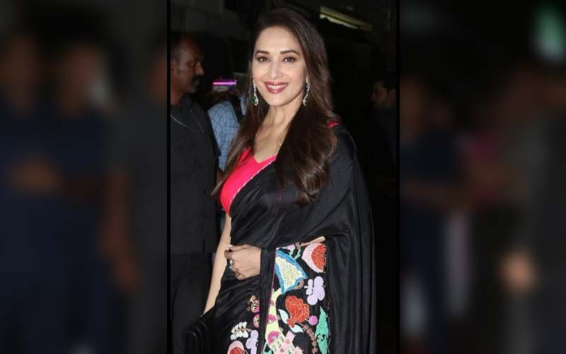 Madhuri Dixit Nene Looks Ethereal In Blue Floral Saree; Proves Yet Again That No One Does Ethnic Style Better Than Her