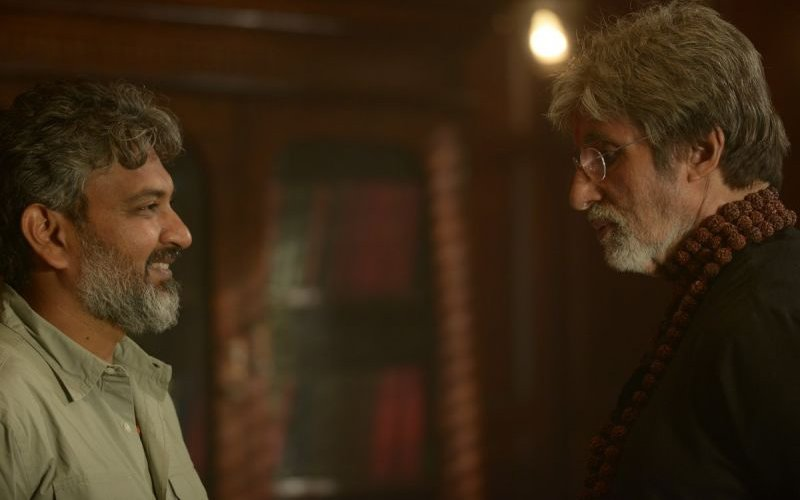 When One Superstar Met Another: Amitabh Bachchan Greets Bahubali Director Rajamouli On-The-Sets Of Sarkar 3