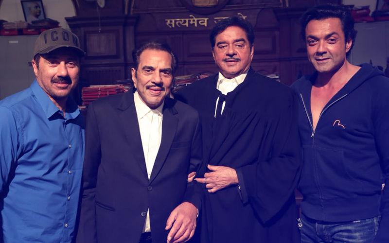 Shatrughan Sinha Shoots With Dharmendra, Sunny Deol & Bobby Deol For Yamla Pagla Deewana Phir Se