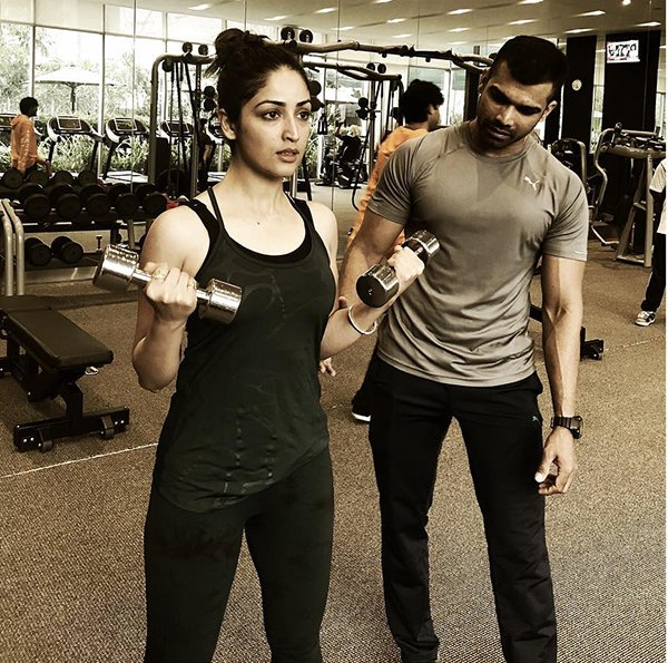 Yami Gautam And Trainer