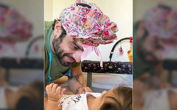 Yeh Hai Mohabbatein Star Karan Patel Wears Daughter Mehr's Frilly Skirt On His Head, Says, 'Things She Makes Me Do'