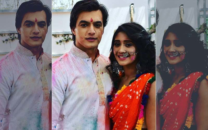 Yeh Rishta Kya Kehlata Hai: Shivangi Joshi And Mohsin Khan Shoot For Holi; Pictures Of Them Smeared In Colour Go Viral