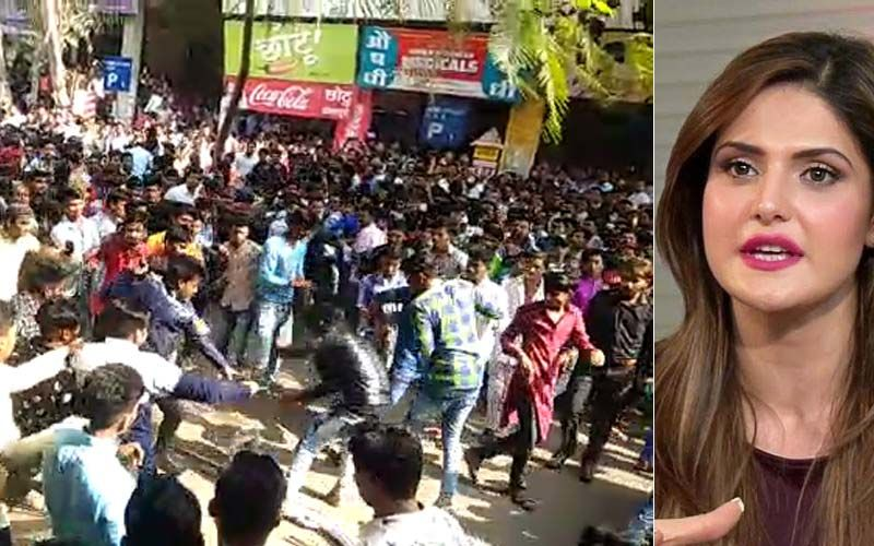 Zareen Khan Mobbed In Aurangabad, Police Resort To Lathi Charge – Shocking Video Inside