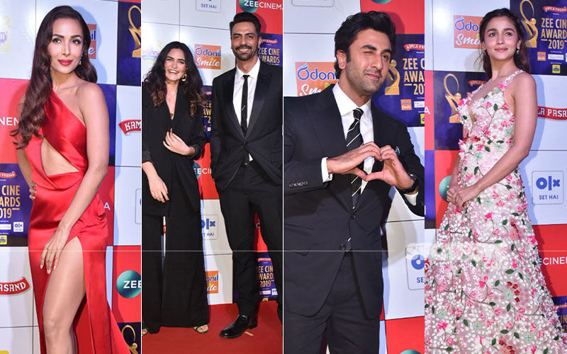 Zee Cine Awards 2019: Malaika Arora Sizzles In Red, Arjun Rampal Enters With His Girlfriend And More