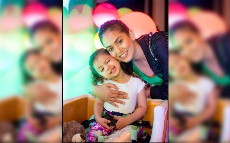 Mira Rajput Gives A Sneak Peek Into Misha's Rainbow Themed Birthday Bash Consisting Of Cakes And Balloons-See PICS