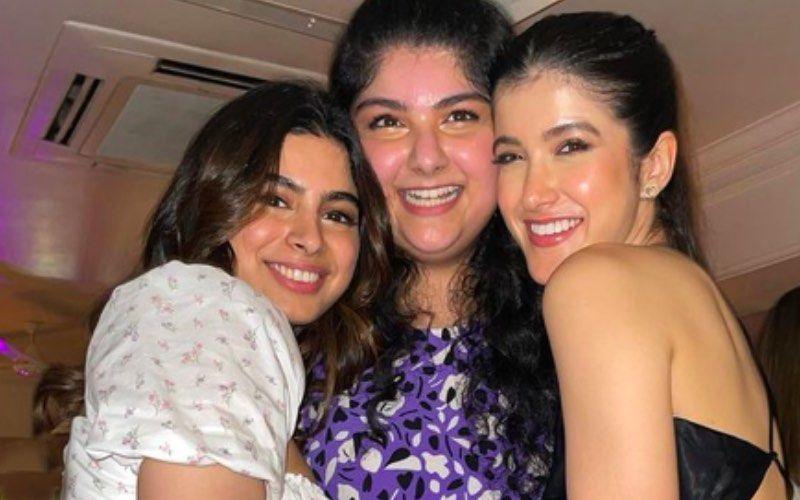 Shanaya Kapoor, Khushi And Anshula's Stunning Lehengas Scream Attention; Kapoor Sisters Make Baby Shower A Fashionable Event- See Pics