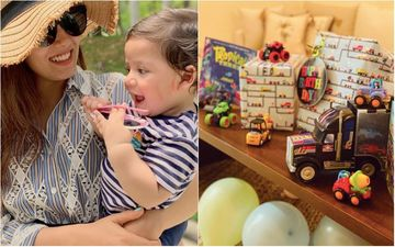 Mira Rajput Takes Fans Inside Zain Kapoor's Quarantine Birthday Bash Comprising Trucks, Bikes, Tractors, Cars And Fire Engines - Pics