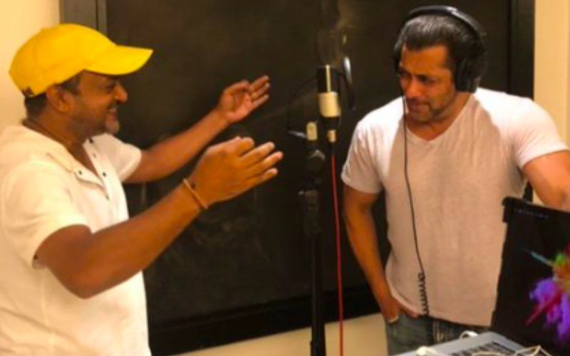 Radhe Your Most Wanted Bhai: Ahead Of Title Track Release, Sajid Khan Shares BTS Pictures With Salman Khan From The Recording Studio