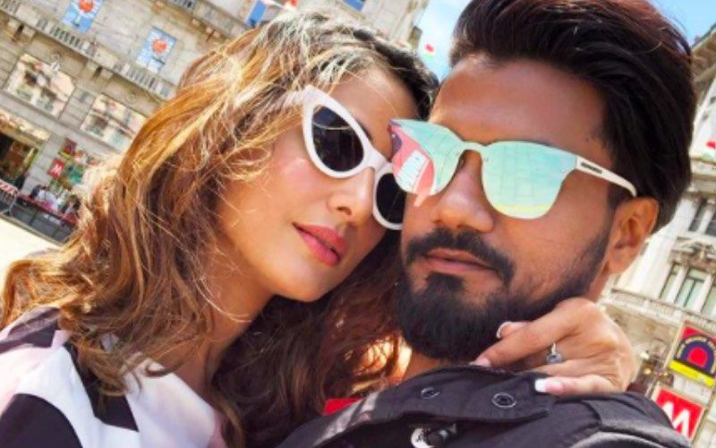Hina Khan Takes A Peaceful Nap On The Beach While A STALKER Comes For Her; Beau Rocky Jaiswal Rescues His Princess In Time – See Pics