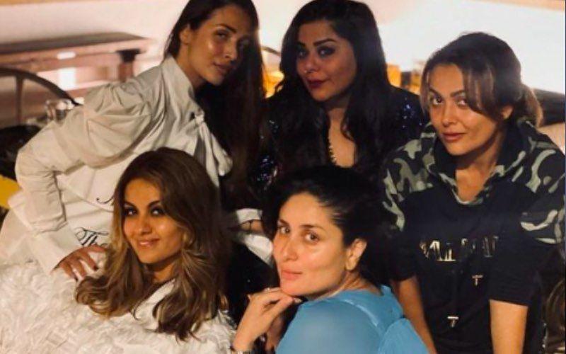 Preggers Kareena Kapoor Khan Reunites With Malaika Arora, Amrita Arora For A Pizza Night; Powerpuff Girls Pose For An Epic Pic