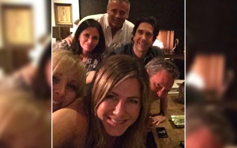 Mathew Perry Posts A FRIENDS Reunion Pic Then Deletes It; LEAKED On The Sets Photos, From Iconic Orange Couch To Monica's Kitchen – See Pics