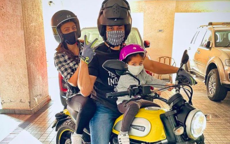 Kunal Kemmu, Soha Ali Khan And Inaaya Dress Up In Biking Gear As They Hit The Road; Fans Ask, 'Itni Thand Me Kidhar'