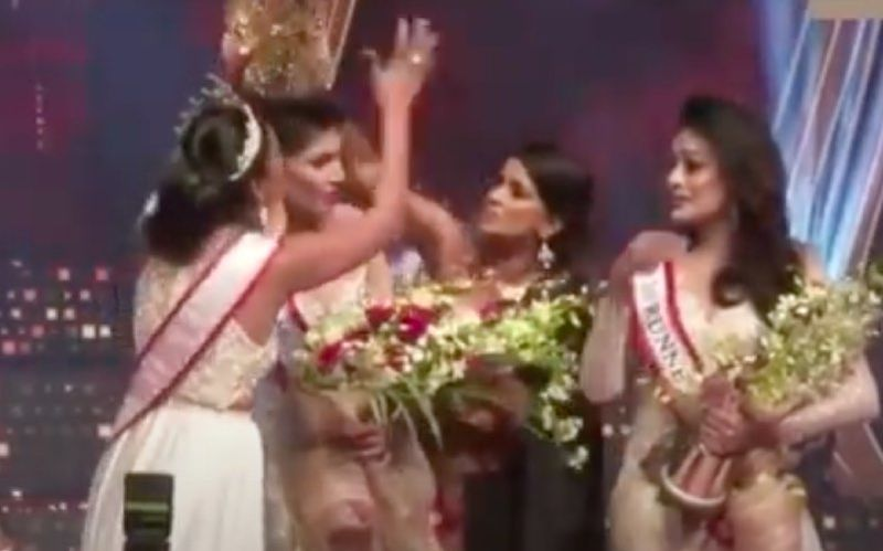 Mrs World Caroline Jurie Gets Arrested By Police For Snatching The 'Crown' From Mrs Sri Lanka Pushpika De Silva's Head – Reports