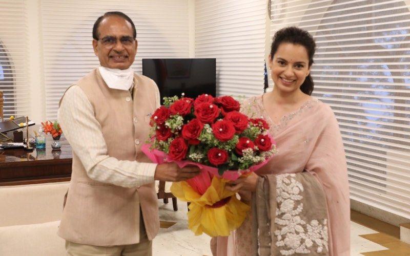 Dhaakad: Kangana Ranaut And Team Meet MP CM Shivraj Singh Chouhan; He Calls The Actress A 'Brilliant, Talented And Nationalist Artist'