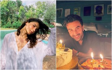 Happy Birthday Ranbir Kapoor: GF Alia Bhatt Gives A Glimpse Into Her Beau's Birthday Bash; Shares An Adorable Photo Of Him With Cake