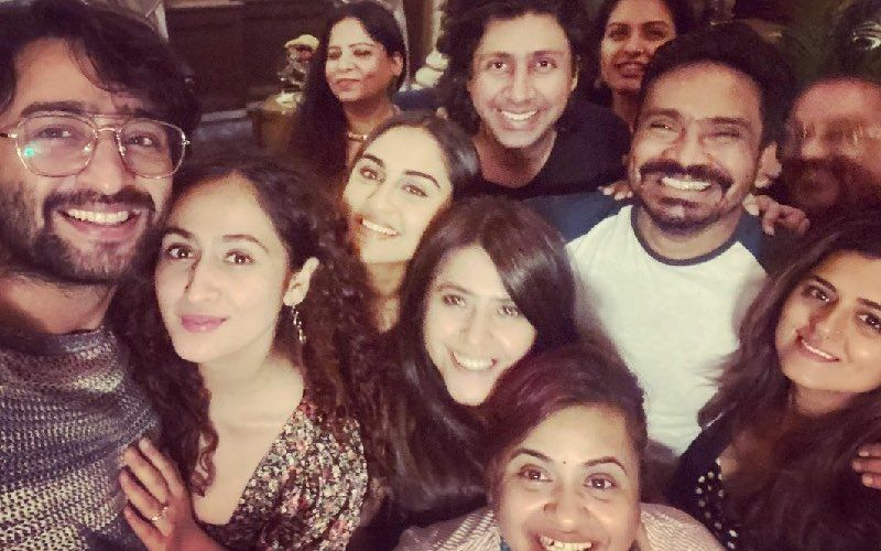 Newly Married Couple Shaheer Sheikh And Ruchikaa Kapoor Attend A Happening Party At Ekta Kapoor's Residence –INSIDE Pics