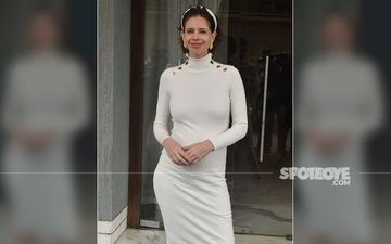 A Glowing Mommy-To-Be Kalki Koechlin Flaunts Her Baby Bump, As She Steps Out To Promote Bhram