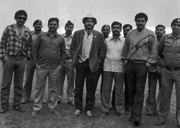a group picture of anil kapoor boney kapoor mr india sets