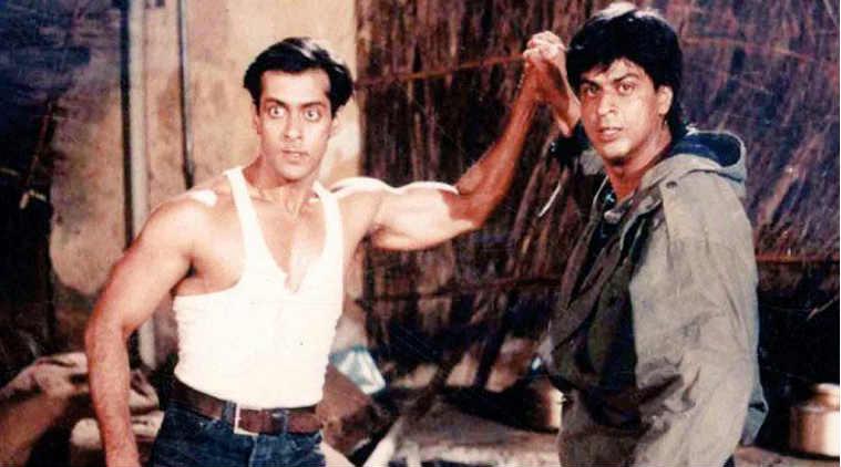 a still from karan arjun movie