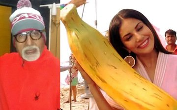 Big B dresses up as Santa Claus, Sunny poses with a banana