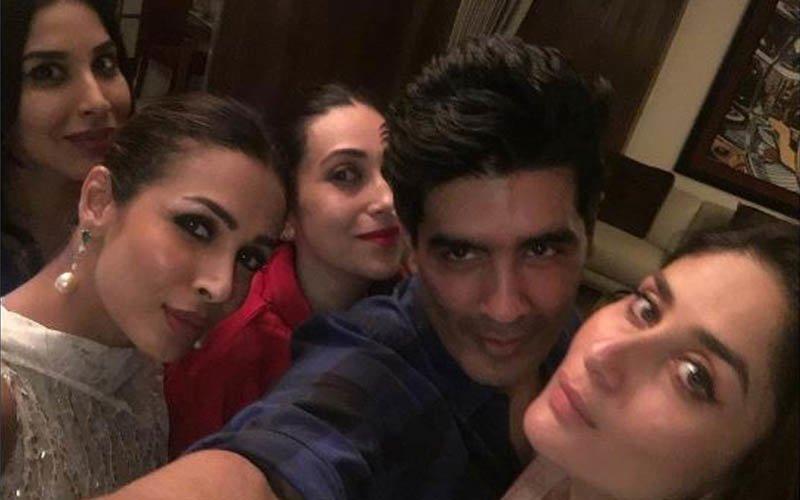 Kareena parties hard with Karisma & Malaika