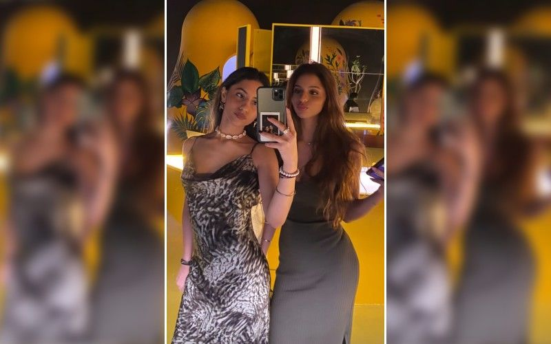 Suhana Khan Looks Sexy AF In A Grey Slit-Gown As She Goes For A Night Out With Cousin Alia Chhiba – See Pic