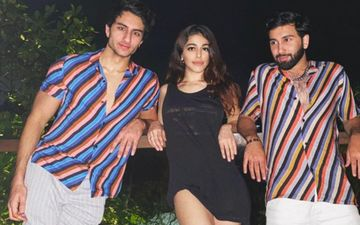 Ibrahim Ali Khan Looks Cool AF In Stripes Shirt As He Poses With Jawaani Jaaneman Star Alaya F – See Pic