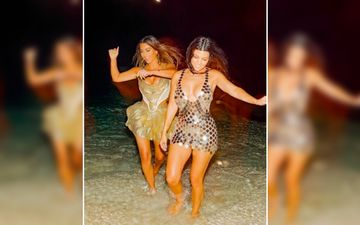 Kim Kardashian And Kourtney Kardashian Ditch Their Fancy Bikini And Head For A 'Night Swim' In Their Blingy Outfits – See Pics