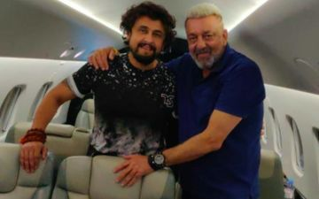 Sonu Nigam Travels To Dubai With Cancer Survivor Sanjay Dutt; Singer Says: 'A Bliss To See Him Shining' – See Pics
